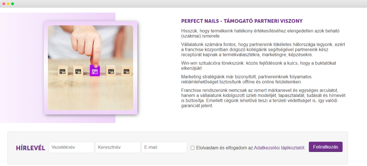 Perfect Nails Simtech subscribe page